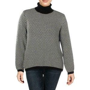 Karen Scott XL Black and White Sweater Top 4AA23